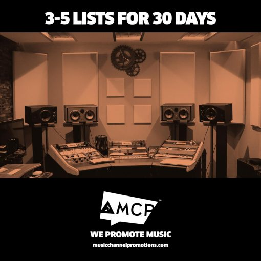 3-5 Lists for 30 days promo package - Music Promotion by MCP - Shop Producty