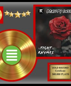 Gold Record award 500K Plays