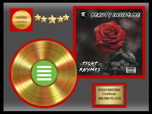 Gold Record award 500K Plays